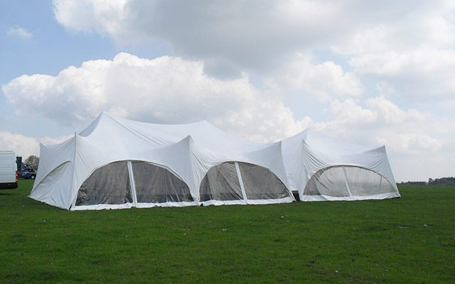 Marquees in the field