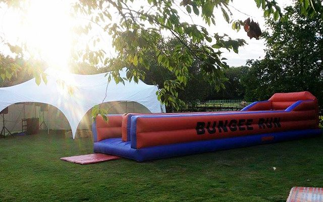 marquee with bungee game