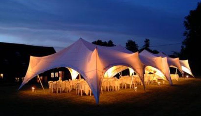 capri marquees with uplighters