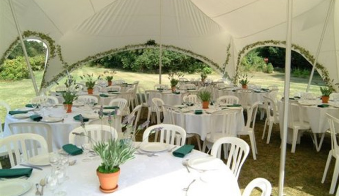 Capri Marquee fitted with ivy garlands