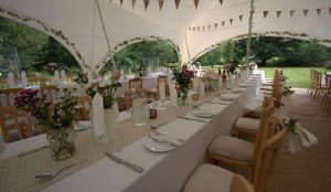 Capri Marquee With Wedding Dining Setup