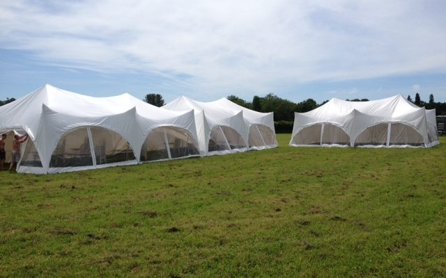 capri marquees in a field