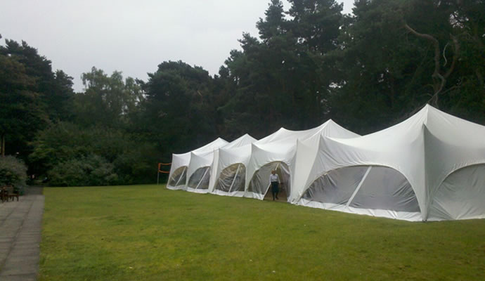Row of capri marquees