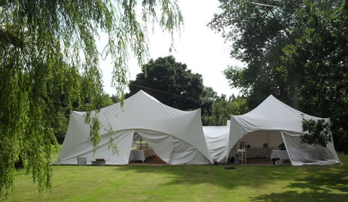 Capri marquees from behind