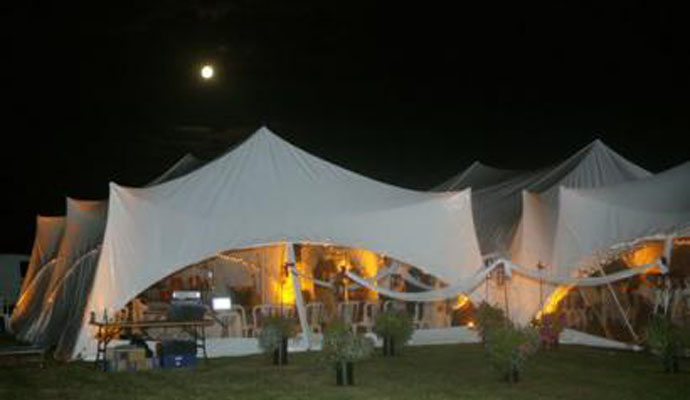 marquees at night