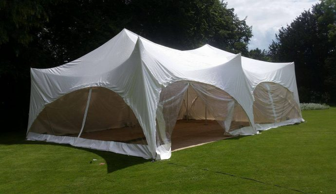 capri marquee set up