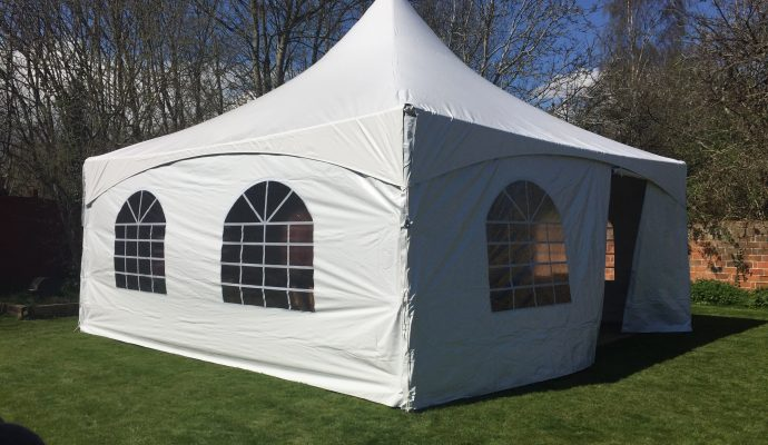pagoda marquee in a backgarden