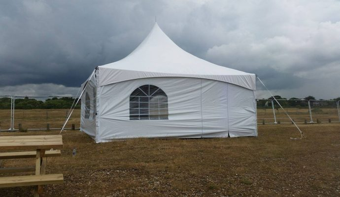 pagoda tent in a field