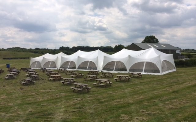 row of marquees